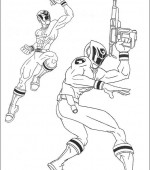 coloriage power ranger 015